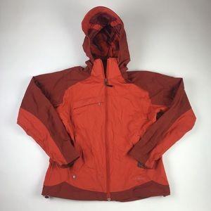 L L Bean Womens Windbreaker Jacket Orange Nylon M